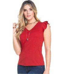 camiseta adulto femenino rojo marketing  personal