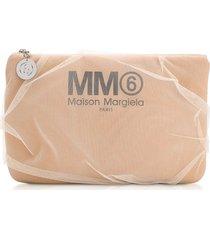 mm6 maison martin margiela designer handbags, nude signature pouch