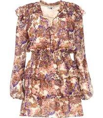 jurk met print cindy  paars