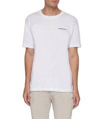 'davis' back skeleton hand print organic cotton t-shirt