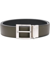 bottega veneta reversible textured leather belt - green
