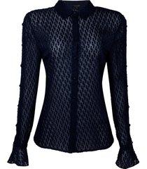 camisa grazi dark blue (dark blue, 50)