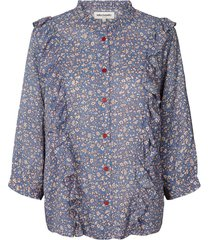 blouse met print hanni  blauw