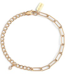 set & stones billie mixed chain bracelet in gold at nordstrom