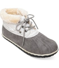 minnetonka tega pile-lined rain booties women's shoes