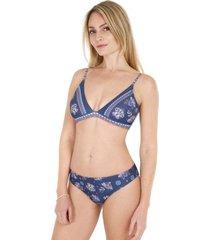 bikini top triángulo azul h2o wear