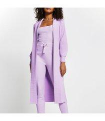 river island womens purple long sleeve maxi cardigan