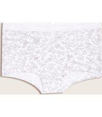 panty estampado flores blanco s