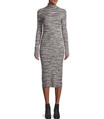 turtleneck cotton-blend sweater dress