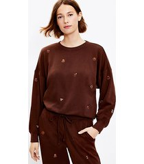 loft lou & grey coffee cozy cotton terry sweatshirt