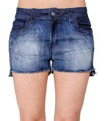 shorts handbook desfiado jeans