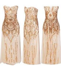 women's 1920s roaring 20s gold flapper costume charleston gatsby fancy dress