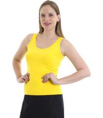 regata kassis alã§a amarela - amarelo - feminino - poliamida - dafiti