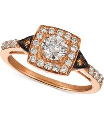 le vian chocolatier diamond ring (7/8 ct. t.w.) in 14k rose gold
