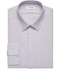 calvin klein burgundy patterned slim fit dress shirt