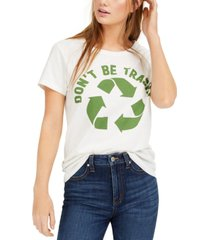hybrid juniors' don't be trashy recycle graphic t-shirt