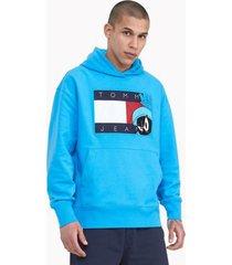 tommy hilfiger women's space jam: a new legacy x tommy jeans hoodie malibu blue - xxxl
