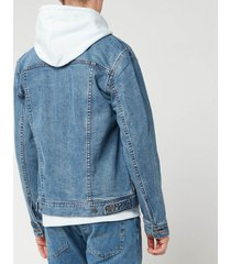 a.p.c. men's denim jacket - indigo - l - blue