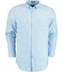 gant overhemd blauw 100% linnen 3012420/468
