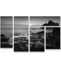 "moises levy sunset at ruby beach multi panel art set 6 piece - 49"" x 19"""