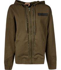 n.21 zipped hoodie