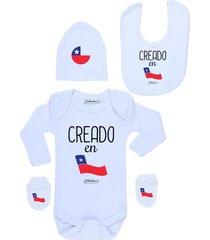 conjunto recién nacido creado en chile blanco calambur