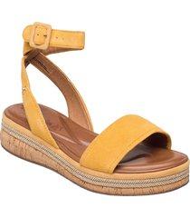 woms sandals sandaletter expadrilles låga gul tamaris