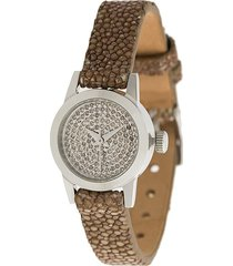 christian koban cute diamond watch - neutrals