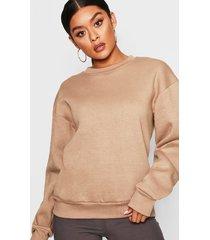 oversized sweatshirt, stone
