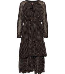 laurene dots jurk knielengte zwart line of oslo