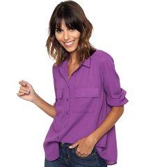 camisa violeta ted bodin classic