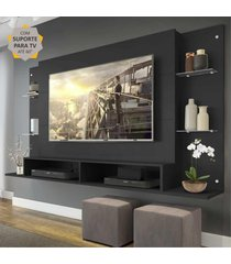 """painel com suporte para tv atã© 60"""" nairã³bi multimã³veis preto - incolor/preto - dafiti"""