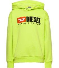 sdivision over sweat-shirt hoodie trui geel diesel