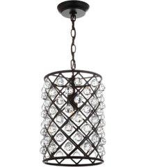 jonathan y gabrielle crystal/metal led pendant