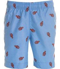 shorts areia branca menino resort lobster azul claro