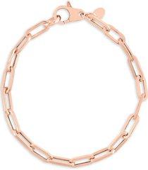 chloe & madison women's 14k rose gold vermeil & sterling silver chain bracelet