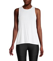 marc new york performance women's ribbed tank top - white - size m
