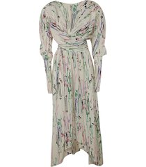 isabel marant printed long wrapped dress