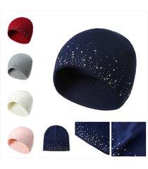 berretto di lana lavorato a maglia con cappello etnico lavorato a maglia da donna