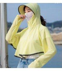 sombrero para el sol impermeable y transpirable para mujer, amarillo
