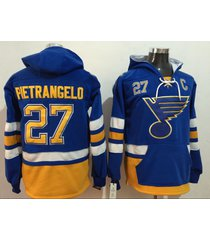 men's st. louis blues 27 alex pietrangelo hockey pullover hoodie jersey