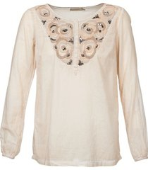 blouse cream lila