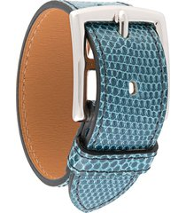hermès pre-owned buckle-fastening bracelet - blue