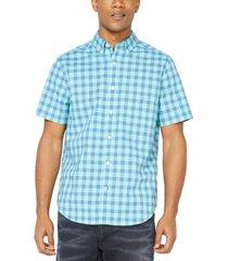 nautica men's classic-fit plaid shirt