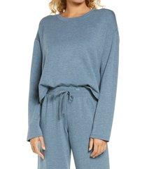 women's bp. all weekend crop sweatshirt, size x-small - blue