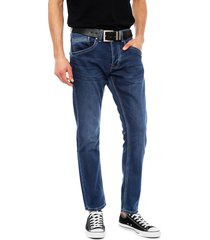 jeans pepe jeans track azul - calce recto