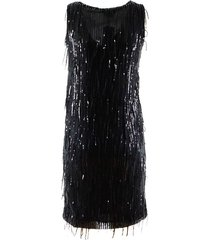 long dress with sequins and fringes
