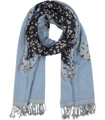 echo animal fringe oblong scarf