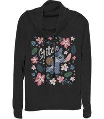 fifth sun juniors disney lilo stitch tropical stitch fleece cowl neck sweatshirt
