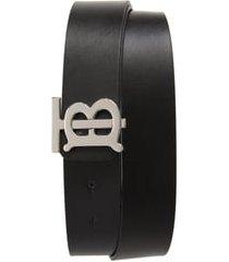 men's burberry reversible leather belt, size 95 eu - black